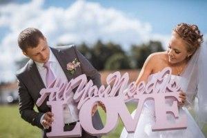 Буквы на свадьбу, деревянные буквы, свадебный декор, свадебные слова из пенопласта на подставке