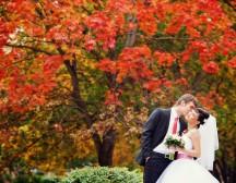 Ідеї для весільного фото осінь